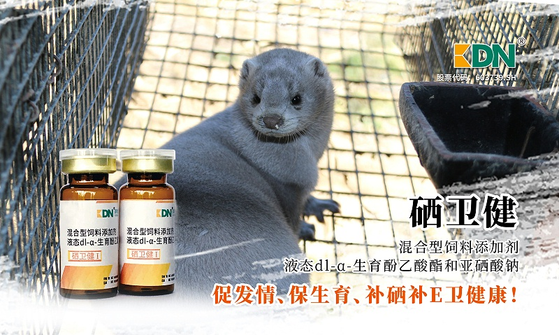 貂狐貉兔高效生育酚补充E补硒防脂肪黄染硒卫健-青岛康地恩