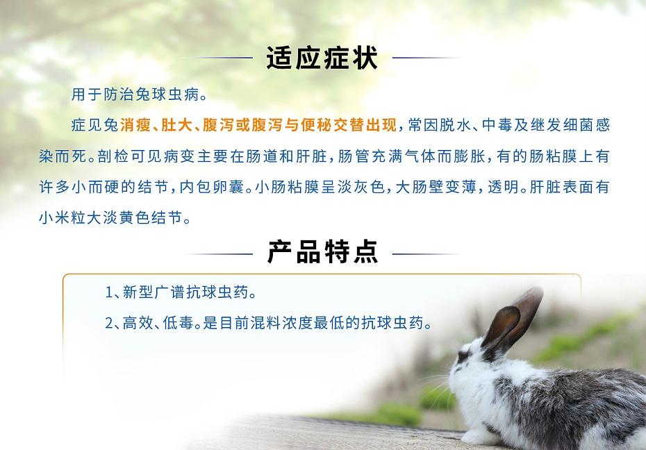 兔子球虫感染用药地克珠利溶液青岛康地恩厂家批发